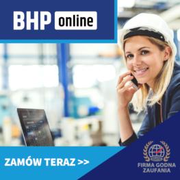 Kurs BHP dla inżynieryjno technicznych ONLINE