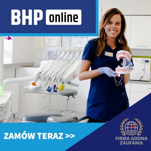 Szkolenie BHP dla stomatologów ONLINE