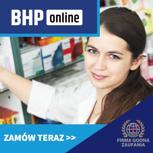 Szkolenie BHP dla farmaceutów ONLINE