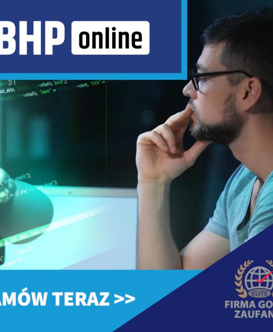 Szkolenie BHP dla pracowników IT ONLINE