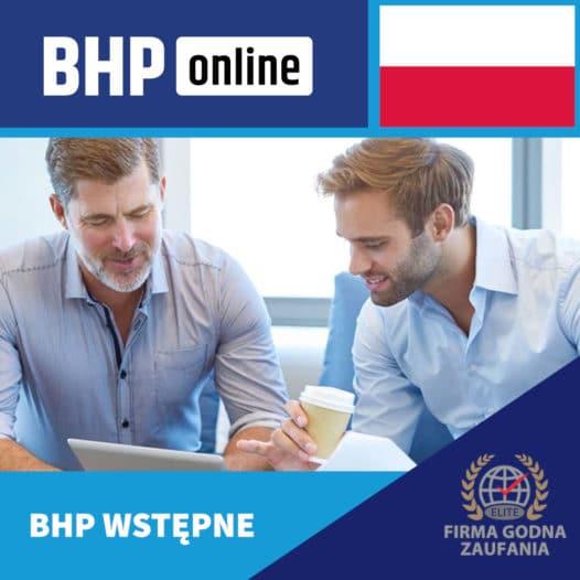 Szkolenie BHP wstępne ONLINE – biurowe- PL