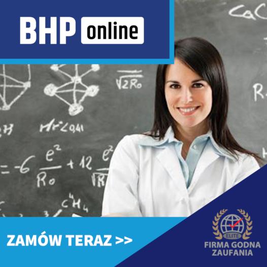 Nauczyciel i pracownik oświaty kurs BHP ONLINE