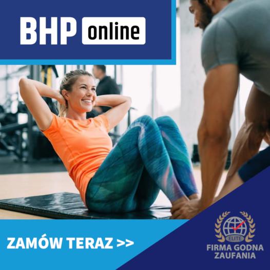 BHP dla Instruktorów i trenerów fitness  ONLINE