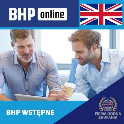 Szkolenie BHP wstępne ONLINE – biurowe- ENG