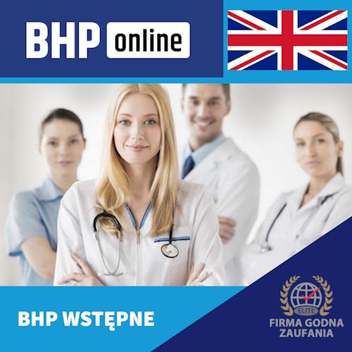 Szkolenie BHP wstępne ONLINE dla pracowników Służby Zdrowia w języku angielskim