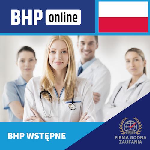 Szkolenie BHP wstępne ONLINE dla pracowników Służby Zdrowia PL