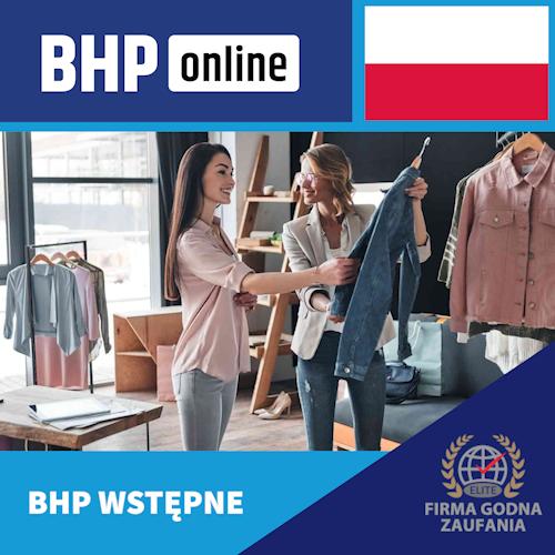 Szkolenie BHP wstępne ONLINE dla pracowników branży handlowej