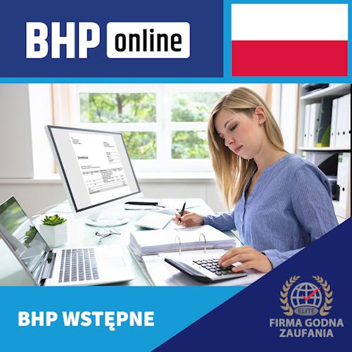 Szkolenie BHP wstępne ONLINE dla pracowników biurowych- PL