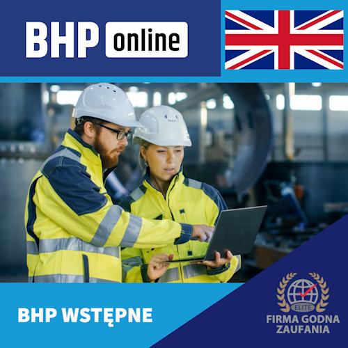 Szkolenie BHP wstępne ONLINE dla pracowników Służby BHP w języku angielskim