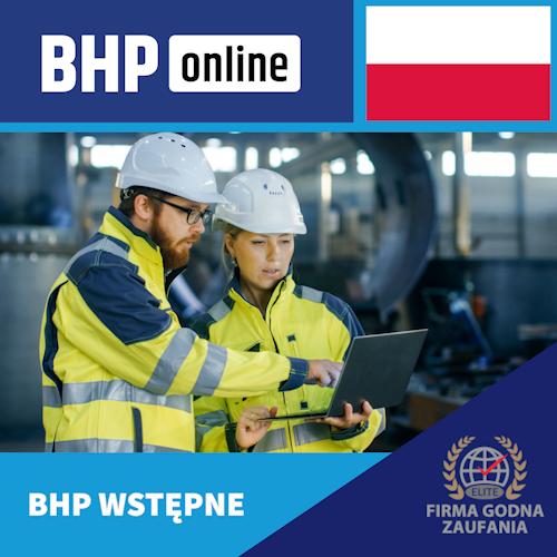 Szkolenie BHP wstępne ONLINE dla pracowników Służby BHP