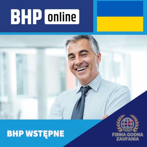 Szkolenie wstępne BHP online dla osób kierujących pracownikami w języku ukraińskim